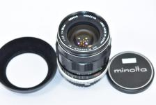 MINOLTA MC W.ROKKOR-SI 28mm F2.5 【純正メタルフード付】