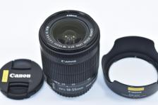 Canon EF-S 18-55mm F3.5-5.6 IS STM 【純正フードEW-63C付】